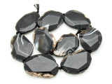 Banded Agate Slab Gemstone Beads 42-48mm (AS895)