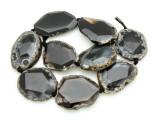 Banded Agate Slab Gemstone Beads 39-47mm (AS899)