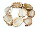 Brown Agate Slab Gemstone Beads 38-62mm (AS910)