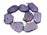 Purple Agate Slab Gemstone Beads 42-53mm (AS919)