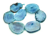 Blue Agate Slab Gemstone Beads 51-56mm (AS922)