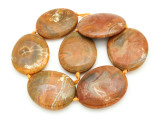 Tan Agate Slab Gemstone Beads 49-54mm (AS927)