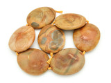Tan Agate Slab Gemstone Beads 52-55mm (AS930)