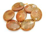 Tan Agate Slab Gemstone Beads 51-54mm (AS932)
