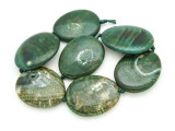 Green Agate Slab Gemstone Beads 51-53mm (AS935)