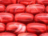 Red Barrel Resin Beads 26mm (RES613)