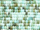 Peruvian Blue Opal Faceted Rondelle Gemstone Beads 4-6mm (GS4120)