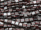 Garnet Square Tabular Gemstone Beads 6mm (GS4125)