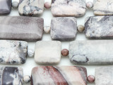 Porcelain Jasper Rectangular Tabular Gemstone Beads 15-20mm (GS4139)