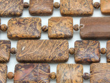 Cobra Jasper Rectangular Tabular Gemstone Beads 15-20mm (GS4141)
