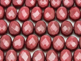Ruby Jade Faceted Oval Tabular Gemstone Beads 14mm (GS4147)