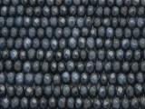 Denim Blue Jade Faceted Rondelle Gemstone Beads 6mm (GS4154)