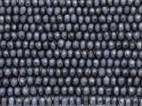 Denim Blue Jade Faceted Rondelle Gemstone Beads 5mm (GS4155)