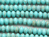 Turquoise Howlite Saucer Gemstone Beads 6mm (GS4169)