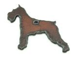 Schnauzer - Rustic Iron Pendant (IR193)