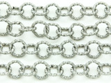 "Textured Silver Plated Iron Rolo Chain 10mm - 36""  (CHAIN89)"