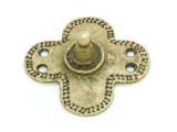 Old Brass Medallion 46mm - Ethiopia (ME445)