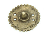 Old Brass Medallion 42mm - Ethiopia (ME452)