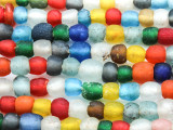 Multi-Color Recycled Glass Beads  3-8mm - Africa (RG607)