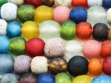 Multi-Color Recycled Glass Beads  9-12mm - Africa (RG609)