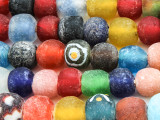 Multi-Color Recycled Glass Beads  10-14mm - Africa (RG610)