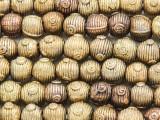 Ornate Round w/Spirals Brass Beads 8-10mm - Ghana (ME5692)