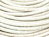 Ivory White Vinyl Disc Beads 3-4mm (VY224)