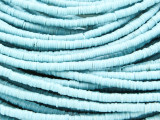 Light Blue Vinyl Disc Beads 2-3mm (VY228)