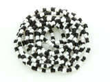 Black & White Glass Seed Beads 1-2mm - Ghana (AT7199)