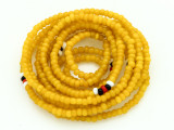 Yellow Glass Seed Beads 2mm - Ghana (AT7201)