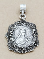 Floral Virgin Mary Metal Pendant 60mm (AP1904)