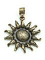 Brass Sunflower Metal Pendant 62mm (AP1912)