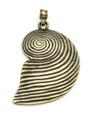 Brass Spiral Shell Metal Pendant 87mm (AP1915)