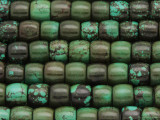 Turquoise Barrel Beads 9-10mm (TUR1291)