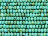 Turquoise Faceted Rondelle Beads 5-6mm (TUR1297)