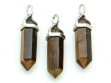 Tiger Eye Dagger Gemstone Pendant 40mm (GSP1658)