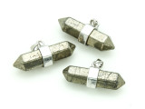 Iron Pyrite Bar Dagger Gemstone Pendant 31-33mm (GSP1662)
