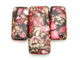 Bronzite & Pink Mosaic Jasper Gemstone Pendant - Set of 3 (GSP1664)