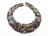 Bronzite & Purple Mosaic Jasper Gemstone Pendant - Set of 15 (GSP1668)