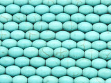 Turquoise Howlite Ellipsoid Gemstone Beads 8mm (GS4170)