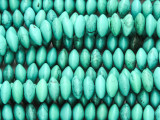 Turquoise Howlite Saucer Gemstone Beads 8mm (GS4172)