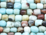 Black Gold Amazonite Nugget Cube Gemstone Beads 8-10mm (GS4174)