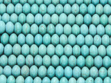 Turquoise Magnesite Saucer Gemstone Beads 8mm (GS4205)