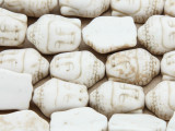 Natural Magnesite Buddha Head Gemstone Beads 18mm (GS4206)