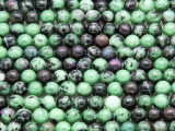 Ruby Zoisite Round Gemstone Beads 6mm (GS4212)
