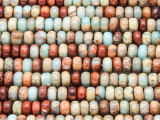 Aqua Terra Jasper Rondelle Gemstone Beads 6mm (GS4217)