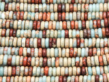 Aqua Terra Jasper Disc Gemstone Beads 6mm (GS4218)