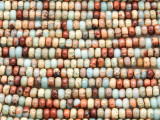 Aqua Terra Jasper Rondelle Gemstone Beads 4mm (GS4219)