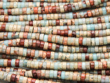 Aqua Terra Jasper Heishi Gemstone Beads 4mm (GS4221)