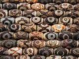 Tibetan Agate Barrel Gemstone Beads 11mm (GS4233)